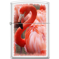 Zippo Lighter - Flamingo White Matte - Lighter