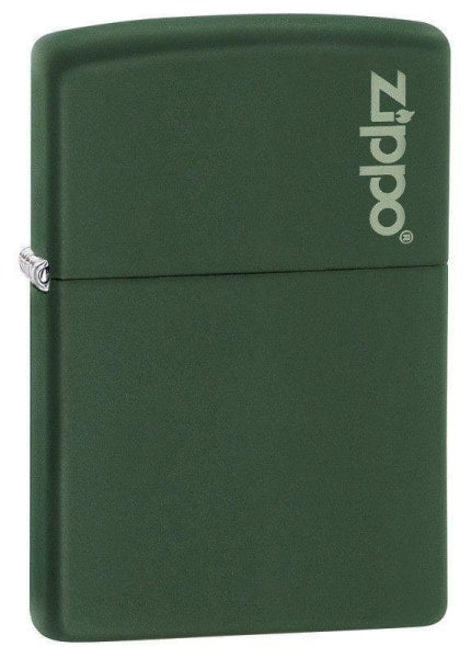 Zippo Lighter - Green Matte with Zippo Logo - Lighter USA