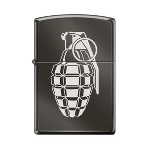 Zippo Lighter - Grenade Black Ice