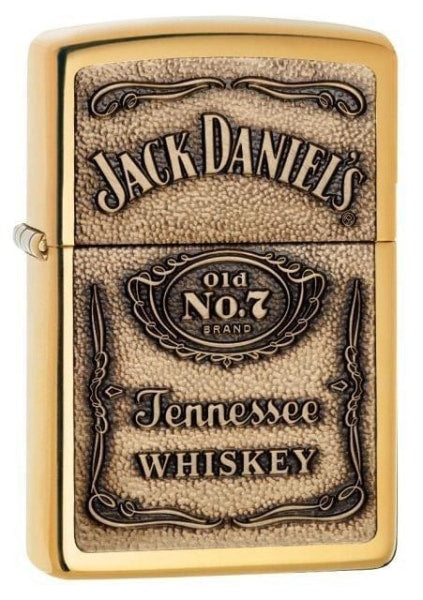 Zippo Lighter - Jack Daniel's Label Brass - Lighter USA