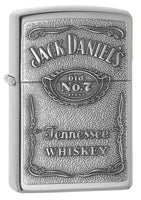 Zippo Lighter - Jack Daniel's Logo High Polish Chrome