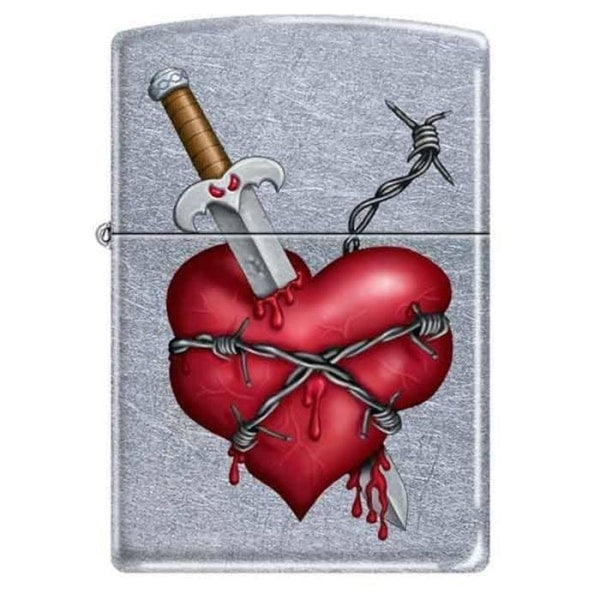 Zippo Lighter - Knife in Heart - Lighter USA