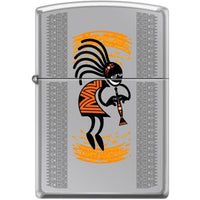 Zippo Lighter - Kokopelli Hi-Polished Chrome - Lighter
