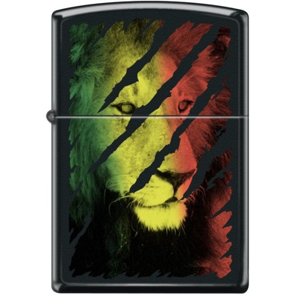Zippo Lighter - Lion Head Black Matte - Lighter