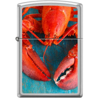 Zippo Lighter - Lobster Satin Chrome - Lighter