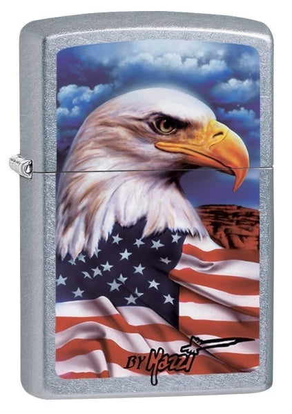 Zippo Lighter - Mazzi Freedom Watch Street Chrome - Lighter USA