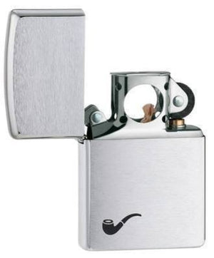 Zippo Lighter - Pipe Lighter Brushed Chrome