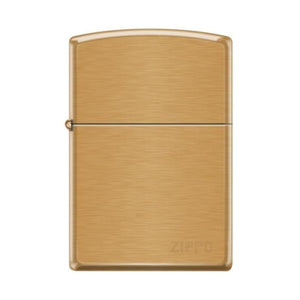 Zippo Lighter - Pipe Lighter With Logo Brushed Brass