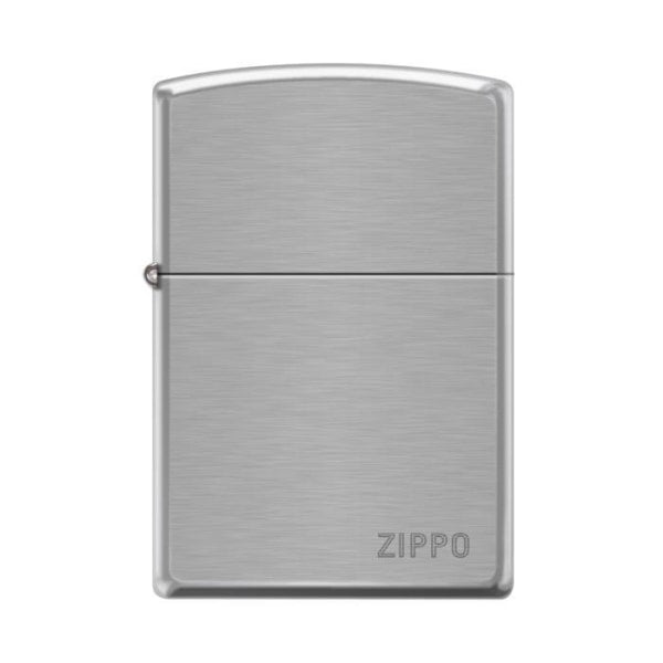 Zippo Lighter - Pipe Lighter With Logo Brushed Chrome Lighter Zippo - Lighter USA