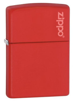 Zippo Lighter - Red Matte with Zippo Logo