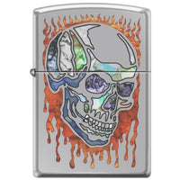 Zippo Lighter - Skull Fusion High Polish Chrome Lighter Zippo - Lighter USA