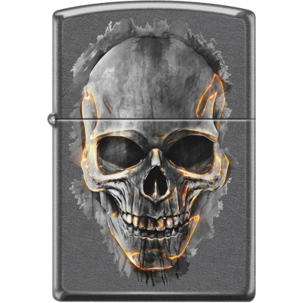 Zippo Lighter - Skull Gray Dusk - Lighter