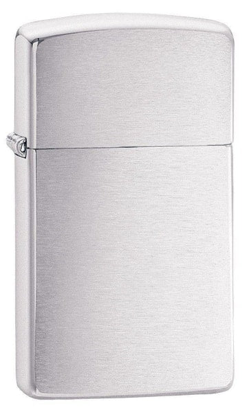 Zippo Lighter - Slim Brushed Chrome - Lighter USA