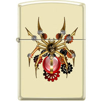 Zippo Lighter - Spider Steampunk Creme Matte - Lighter