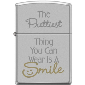 Zippo Lighter - The Prettiest Thing You Can Wear Satin Chrome