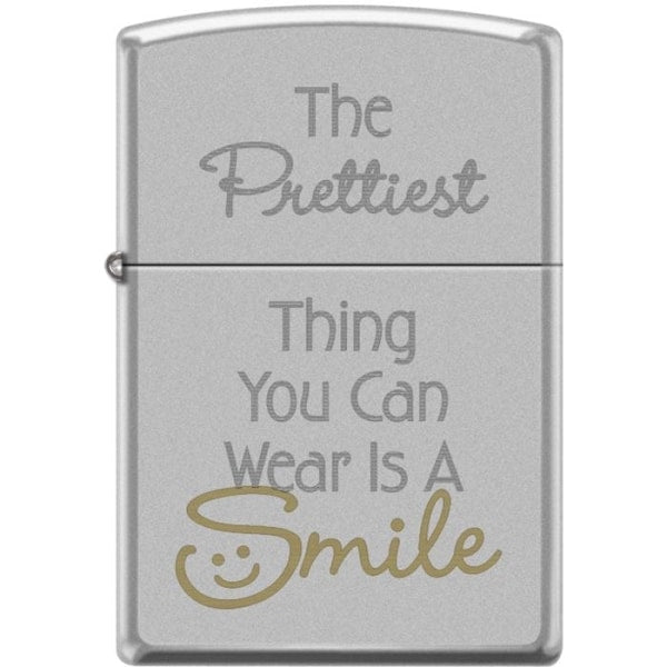 Zippo Lighter - The Prettiest Thing You Can Wear Satin Chrome - Lighter