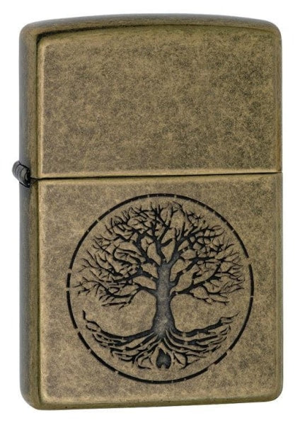 Zippo Lighter - Tree of Life Antique Brass - Lighter USA