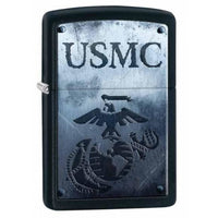 Zippo Lighter - U.s. Marines Usmc Black Matte - Lighter