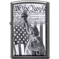 Zippo Lighter - We the People Iron Stone