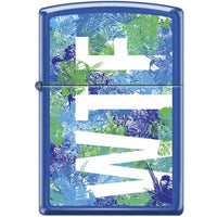 Zippo Lighter - Wtf Blue Matte - Lighter