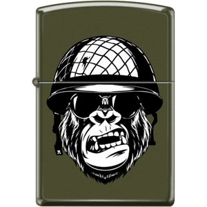Zippo Lighter - You Want A Piece Of Me? Green Matte