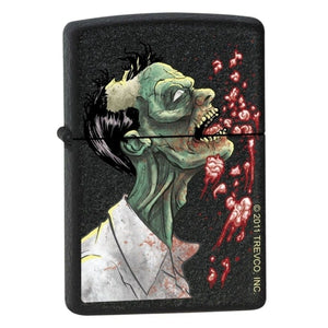 Zippo Lighter - Zombie Brains Black Crackle
