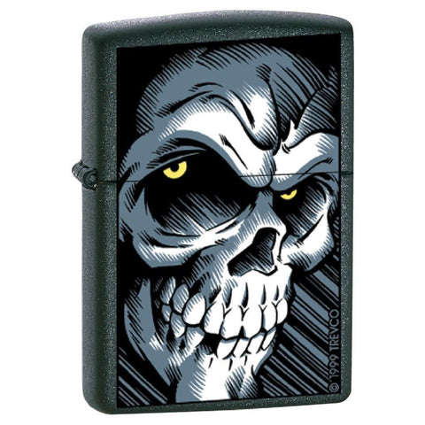 Zippo Lighter - Big Skull Black Matte - Lighter USA - 1