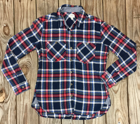 Navy and Red Flannel