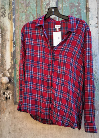 Plaid Shirt Red/Navy