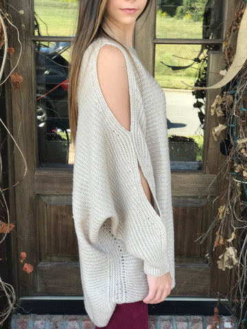 Oatmeal Dolman Sleeve Sweater