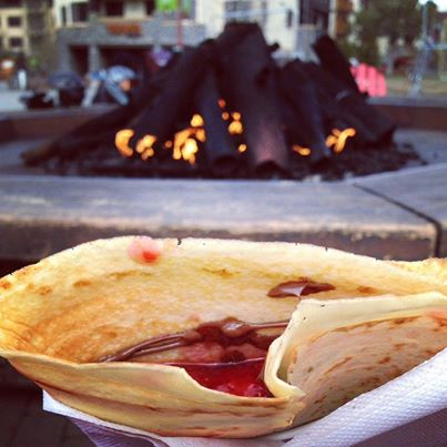 Strawberry and Nutella Crepes Squaw Valley
