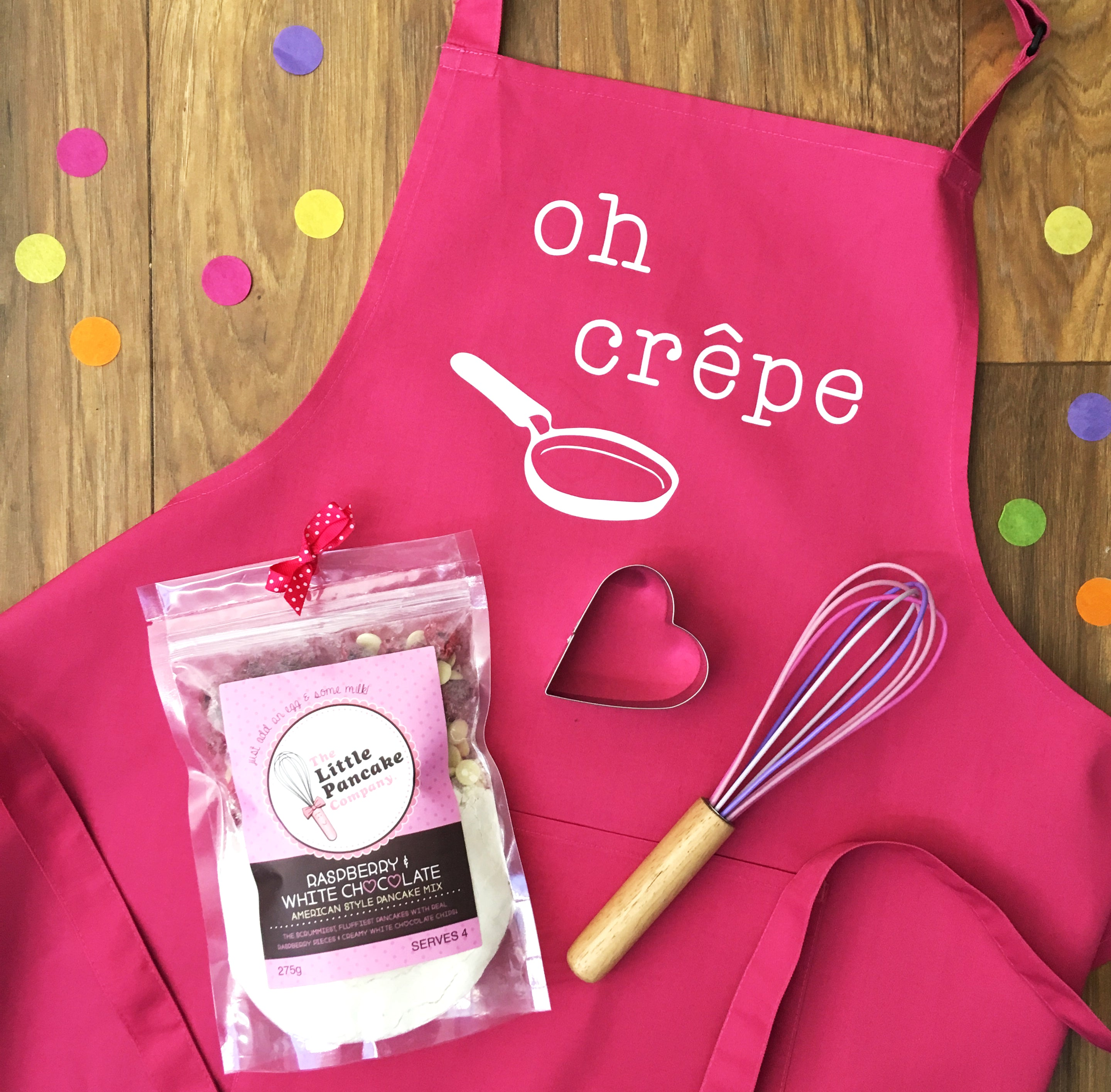 Pancake Mix Gift Set with Apron, Whisk and Cutter - The Little ...