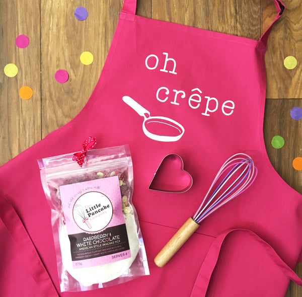 Pancake Mix Gift Set with Apron, Whisk and Cutter - Little Pancake Co