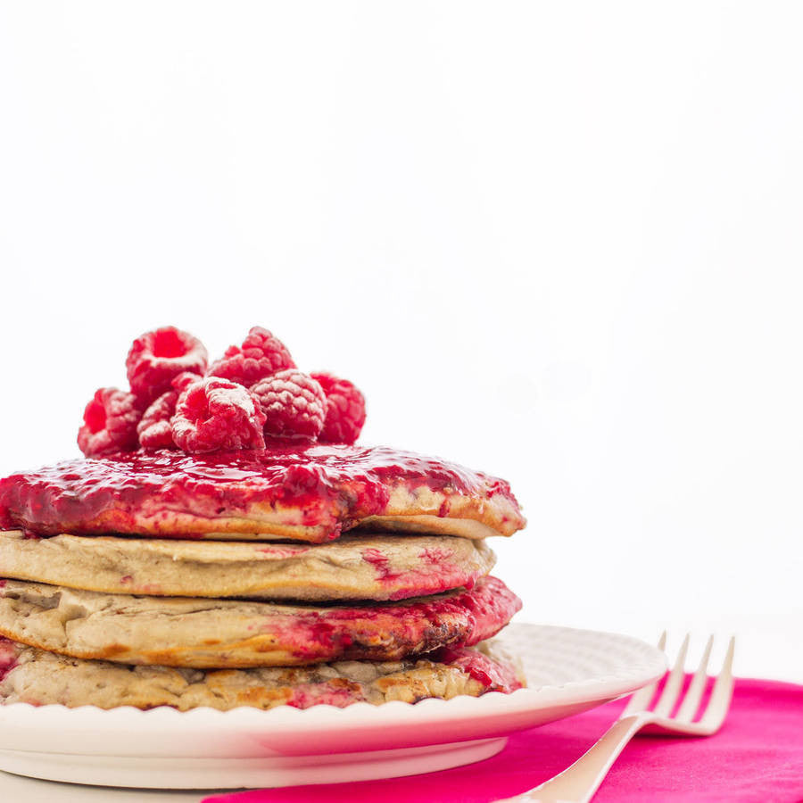 Raspberry & White Chocolate Pancake Mix - Little Pancake Co
