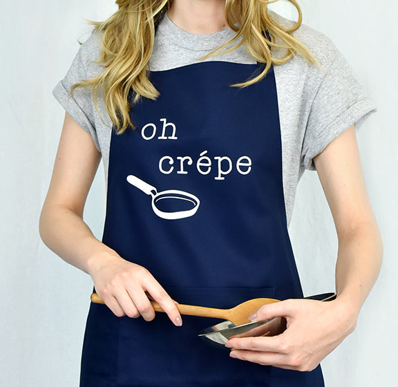 """Oh Crepe"" Adult Apron - Little Pancake Co"
