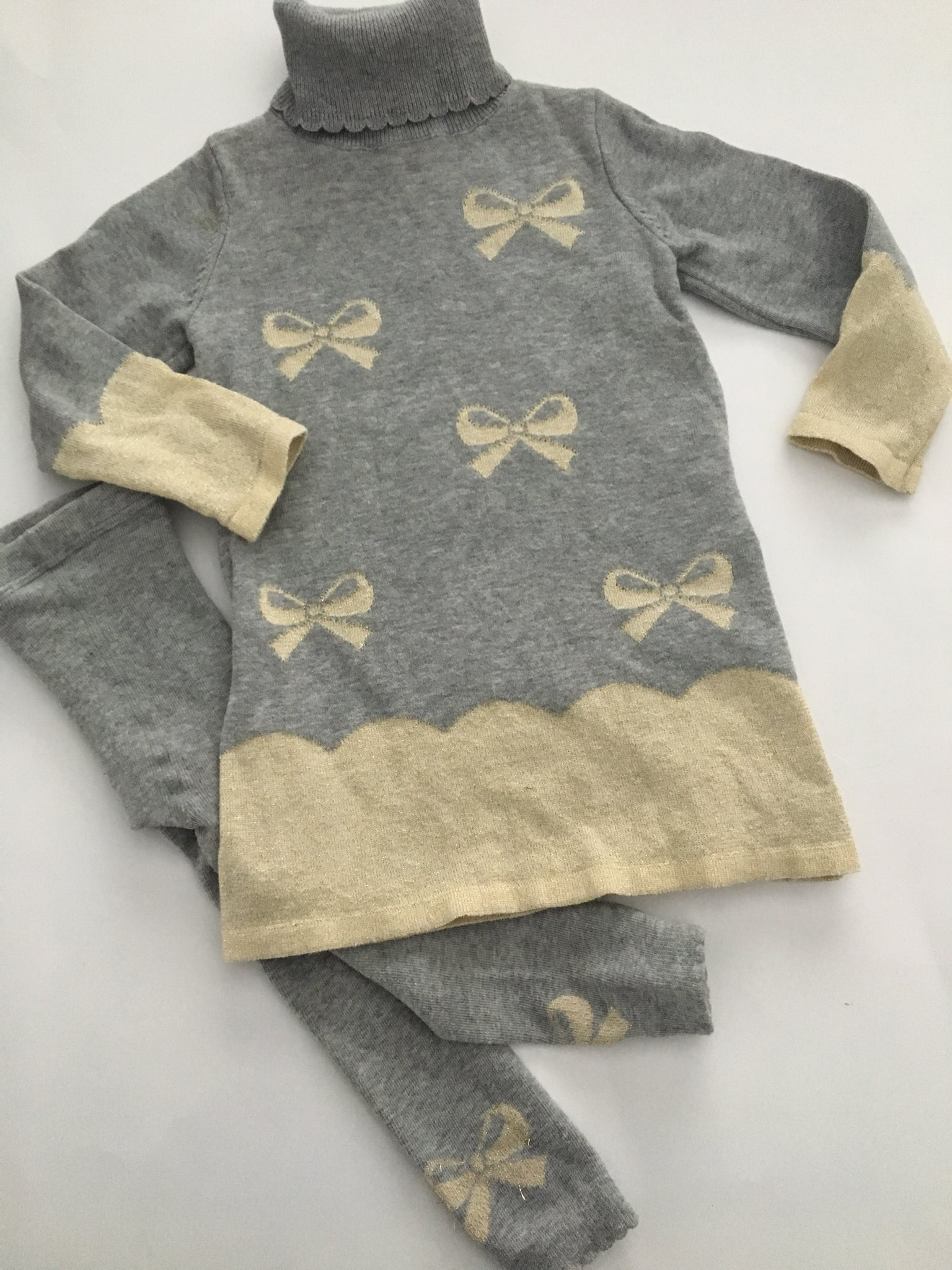 Savannah Bow Sweater Dress + Matching Tights | 2T