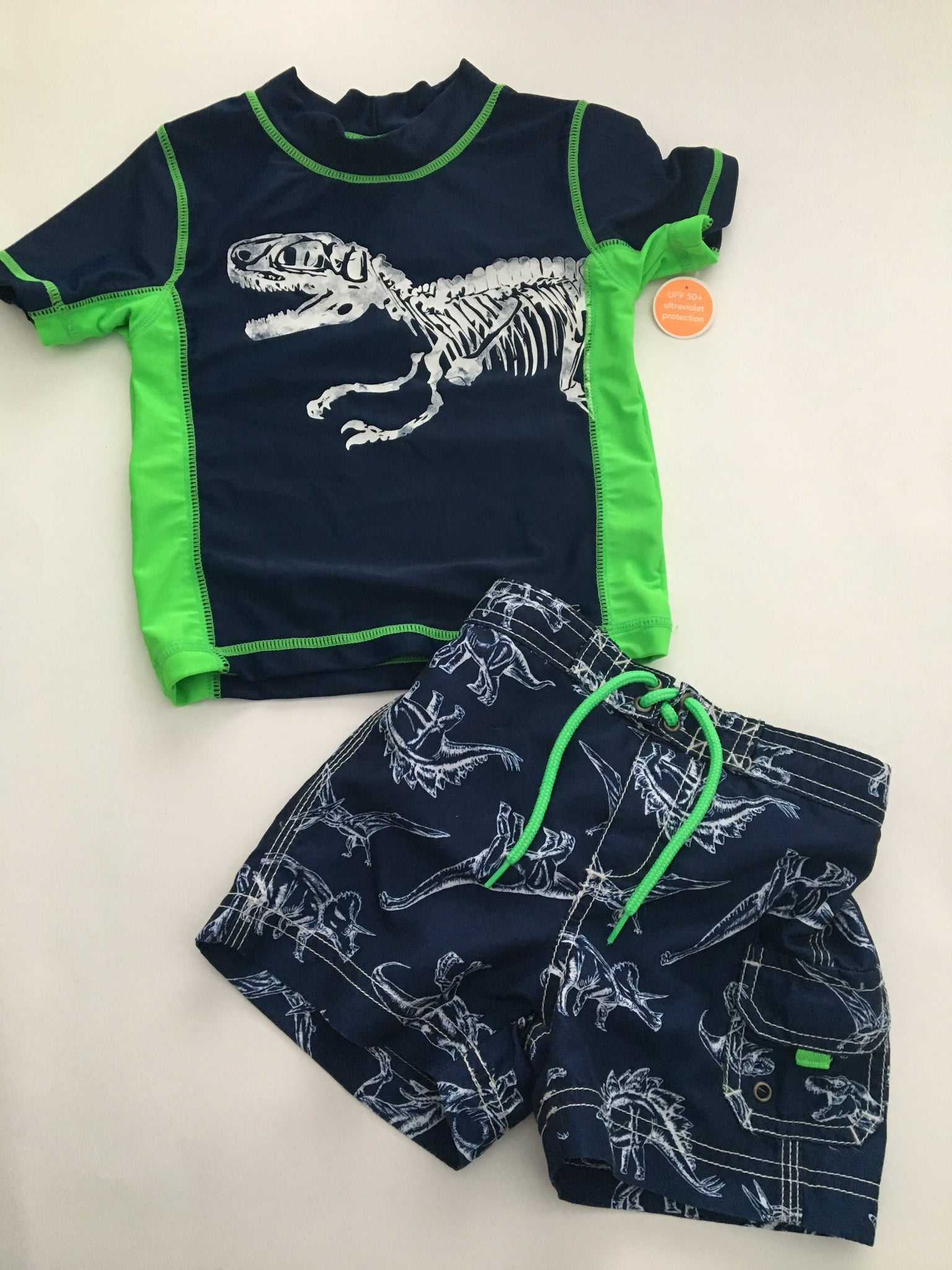 Carter's Swim Trunks + Rash Guard NWT | 18M