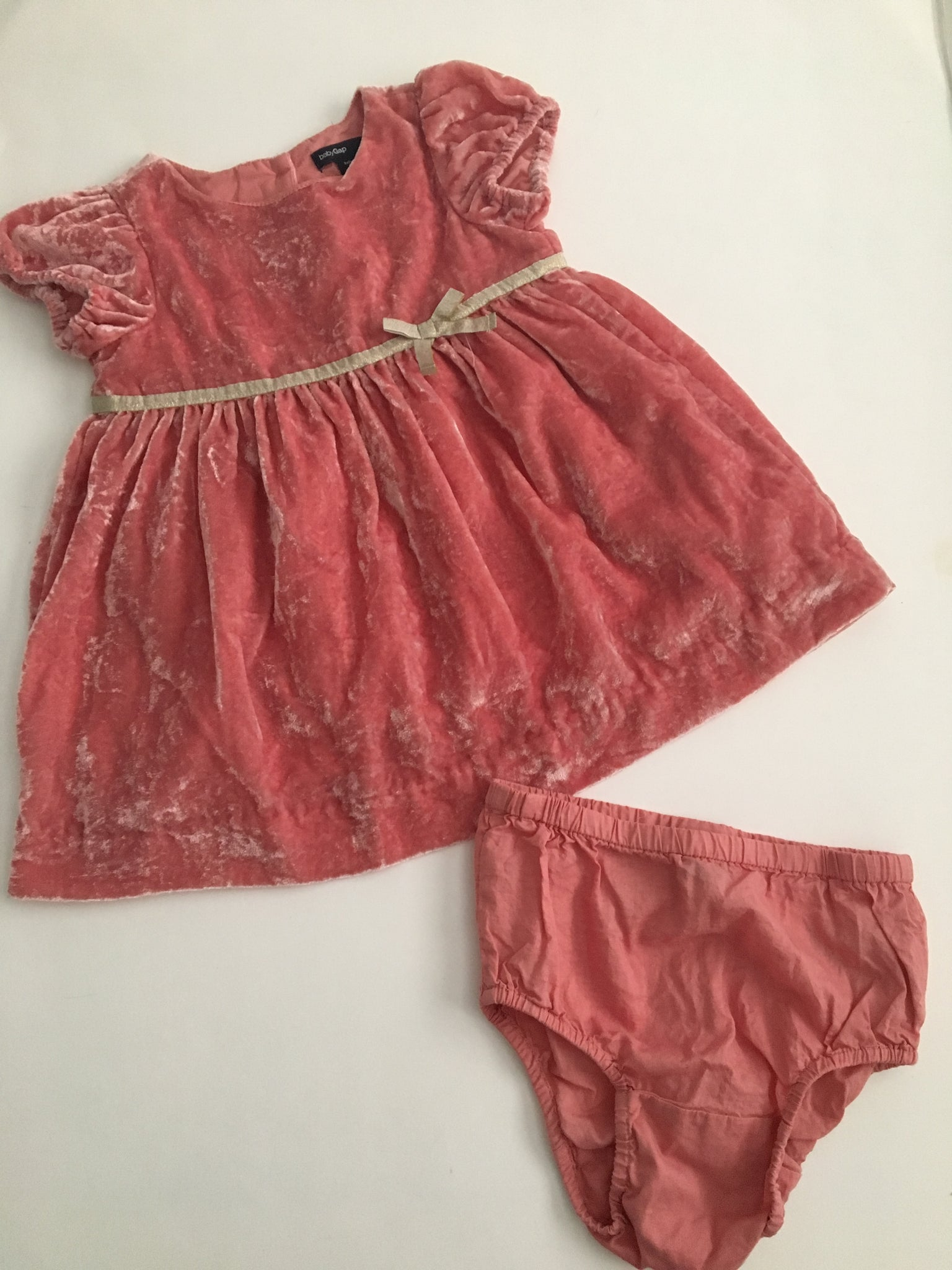 Baby Gap Crushed Velvet Dress | 6-12M