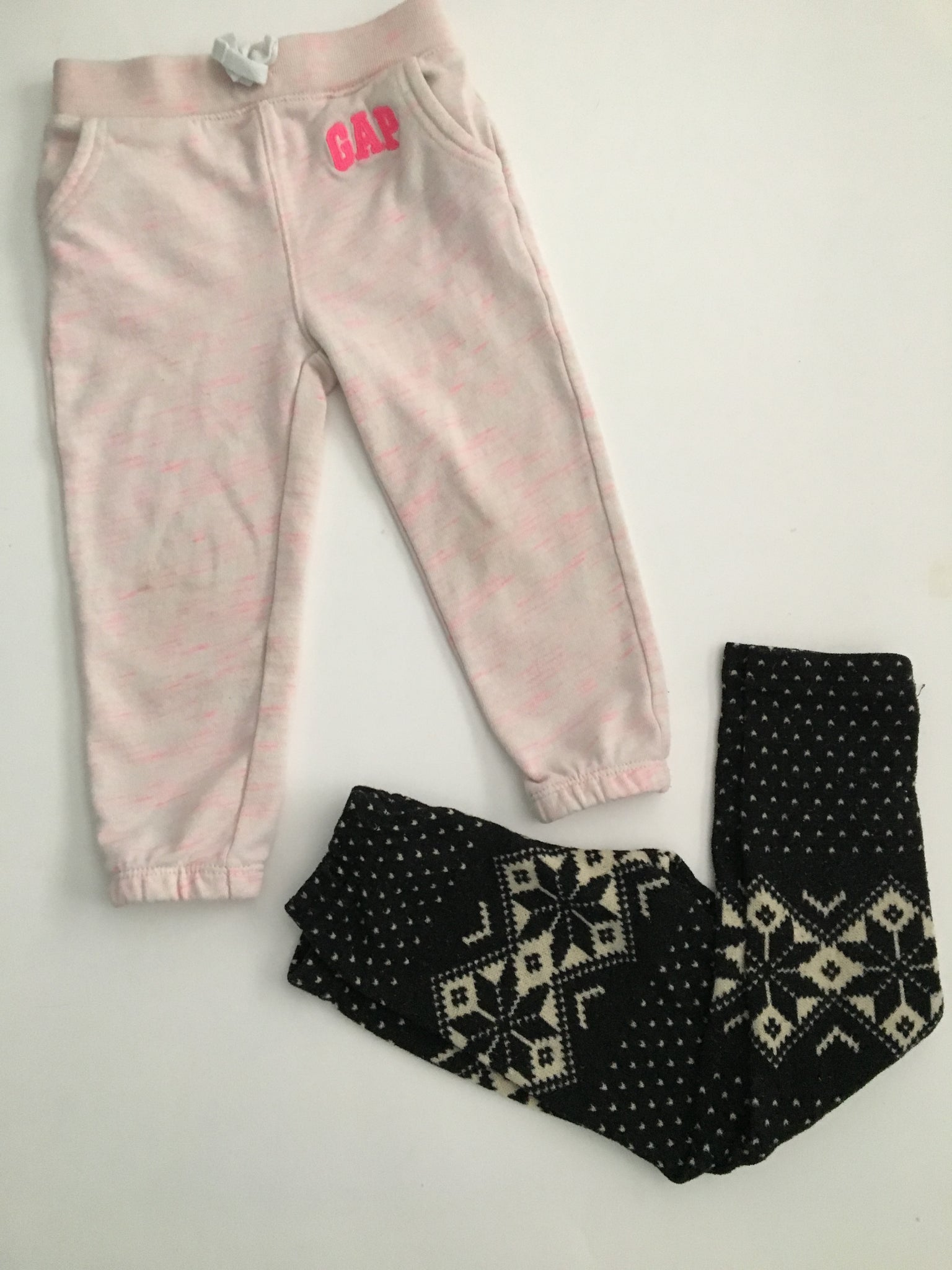 Baby Gap Trackpants + Snowflake Leggings | 2T