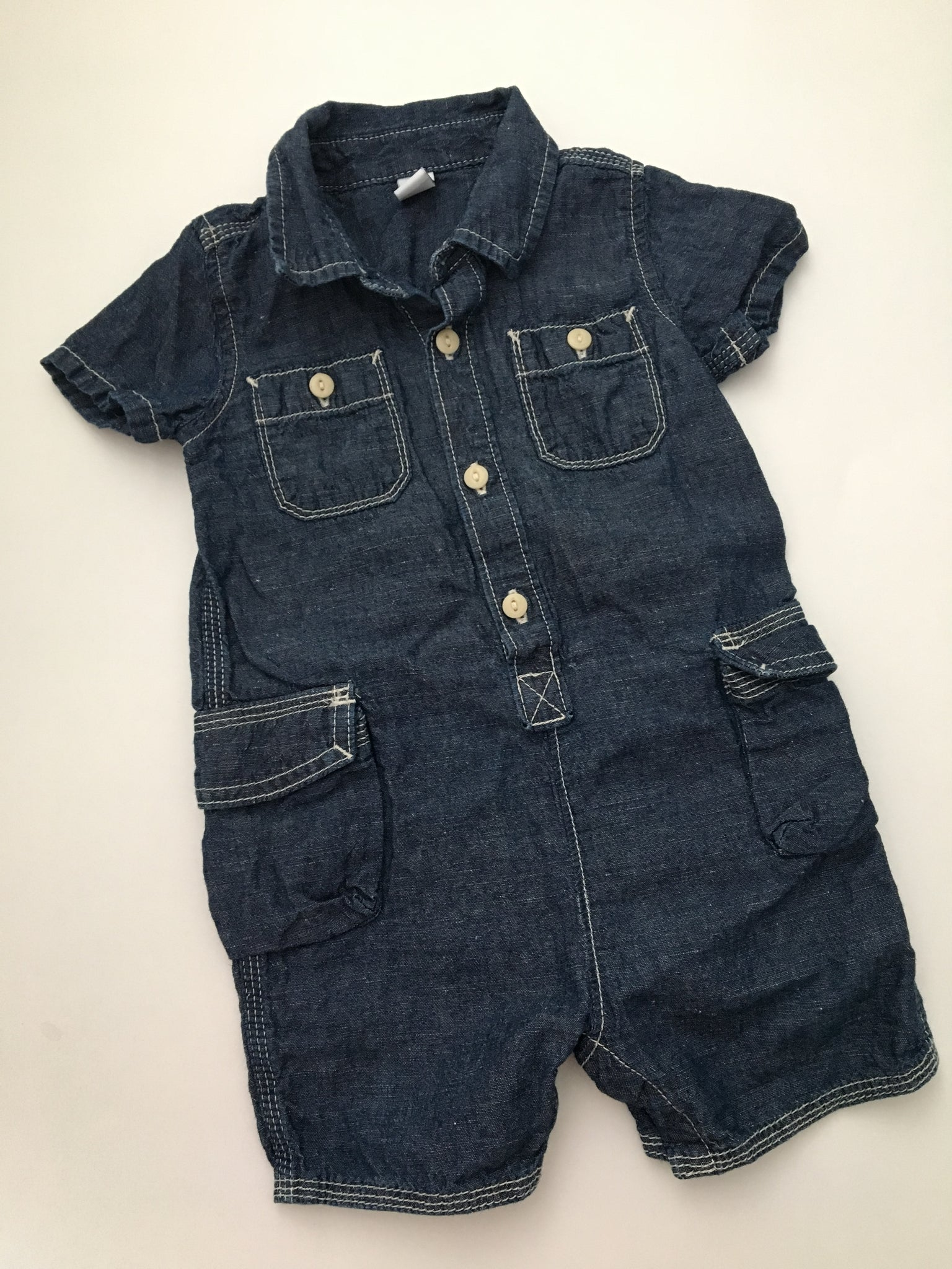 Baby Gap Denim Romper | 12-18M