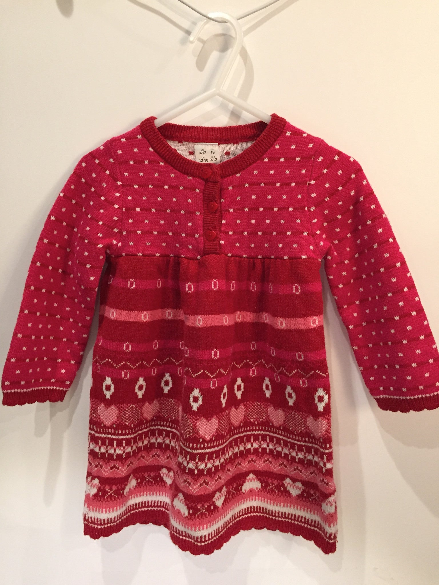 Girls Knit Sweater Dress | 12-18 Months