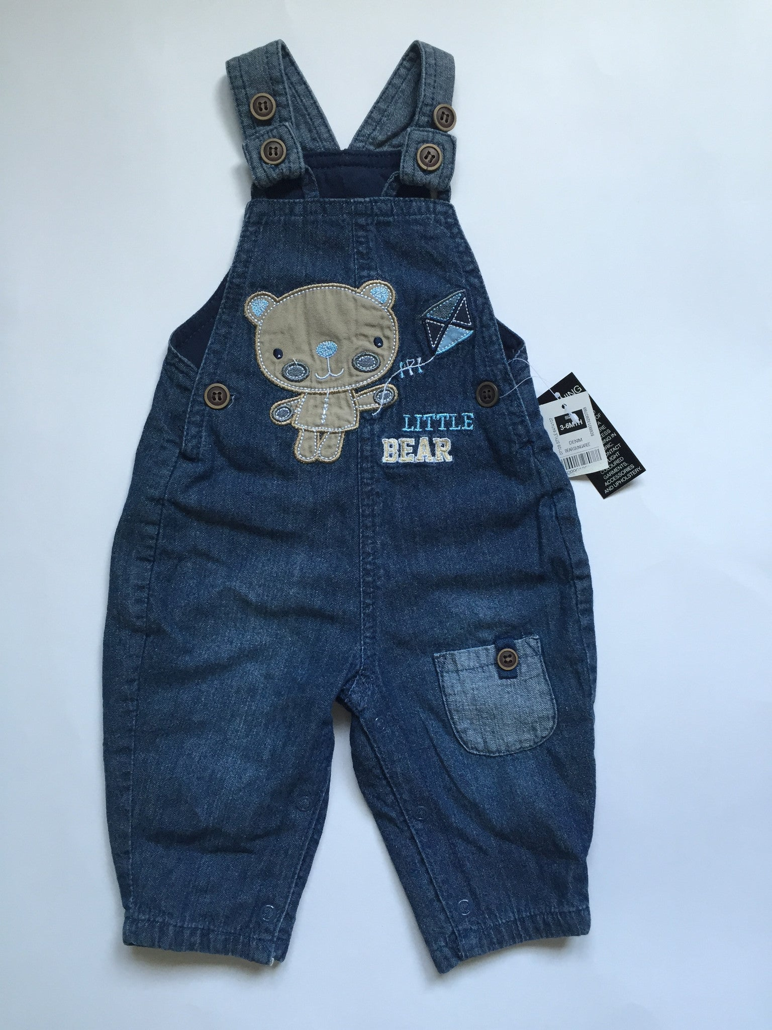 Little Bear Overalls NWT | Boys | 3-6 Months