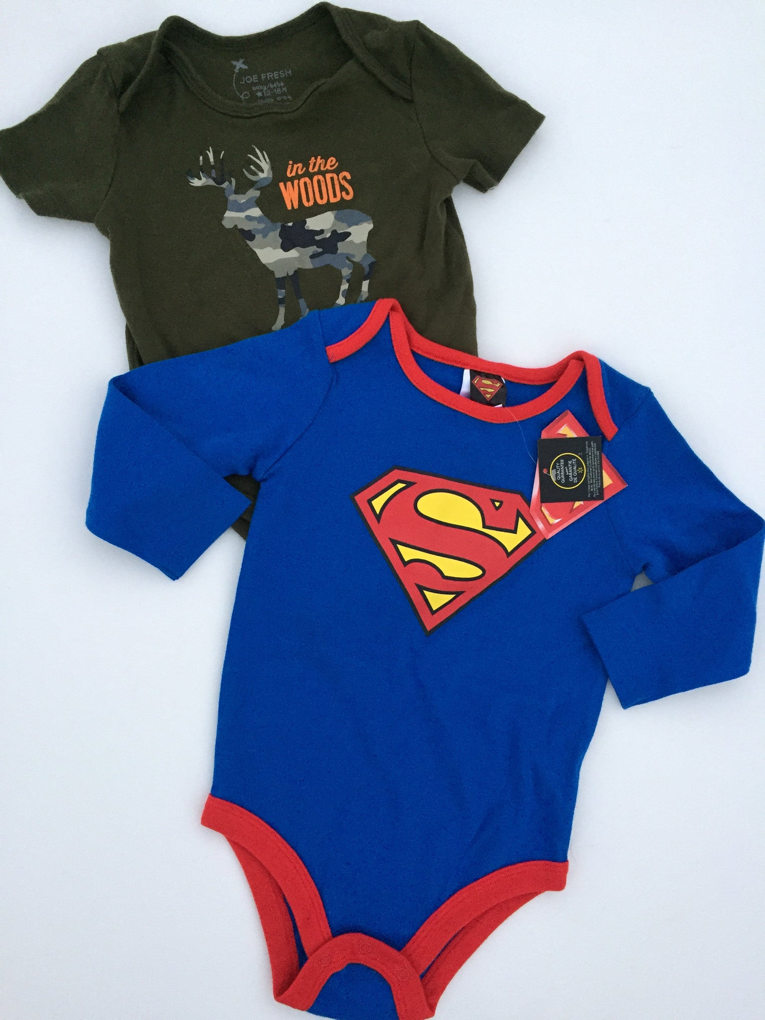 Superman Onesie NWT + Joe Fresh Onesie | 12-18M