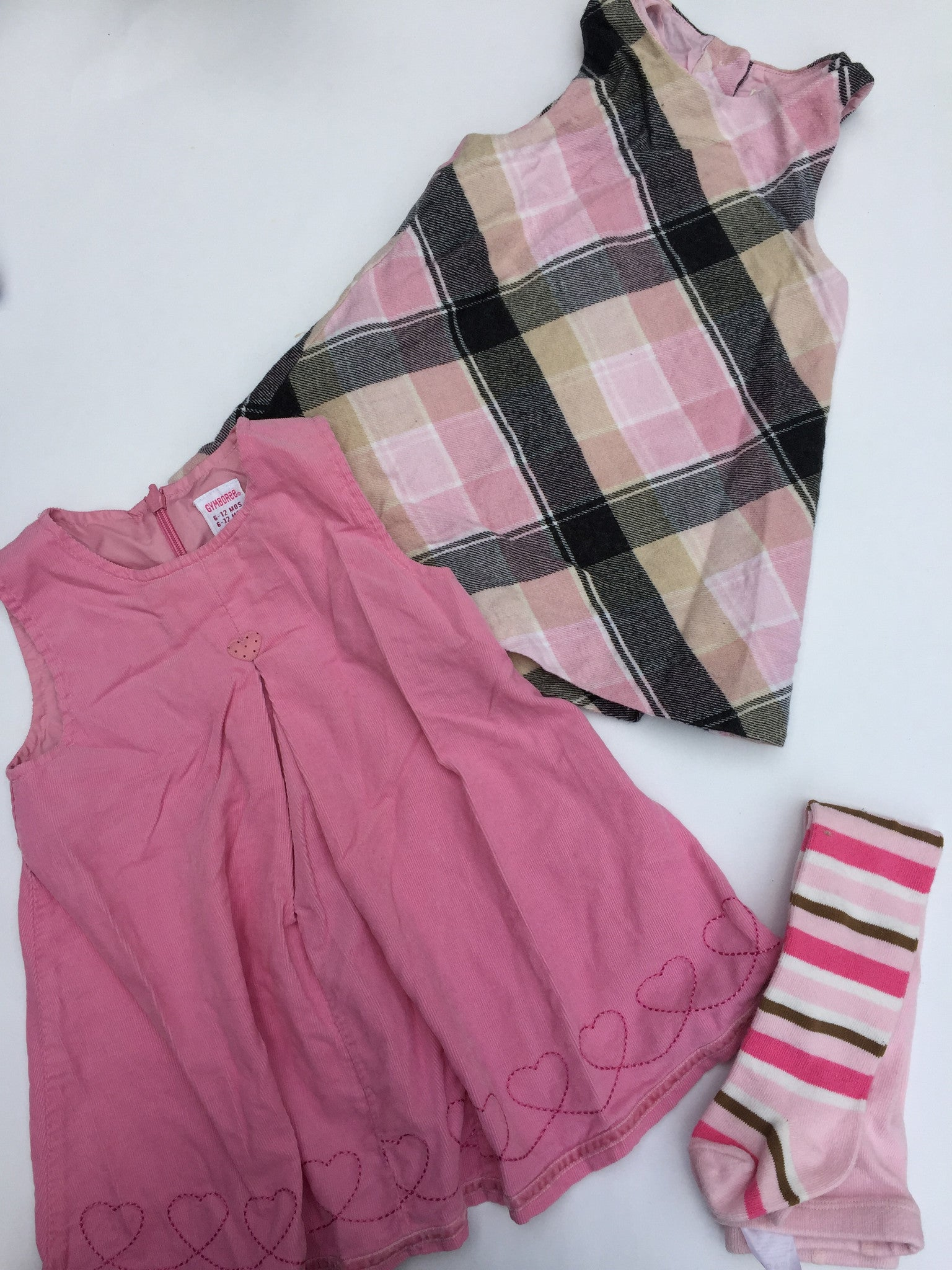 Pottery Barn + Gymboree Dresses + Tights | 6-12M