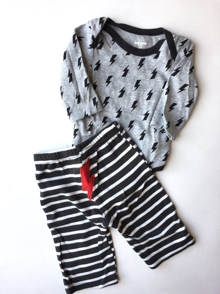 Lightning Onesie + Pants | 6-9M