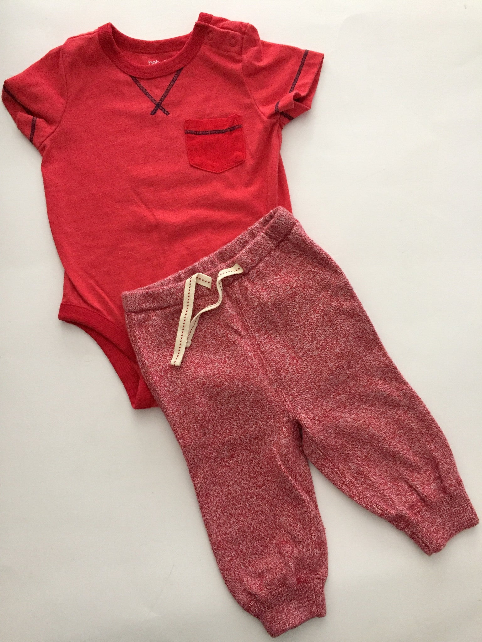 Baby Gap Onesie + Soft Knit Trackpants | 3-6M