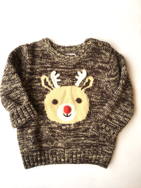 Joe Fresh Reindeer Sweater  | 12-18M