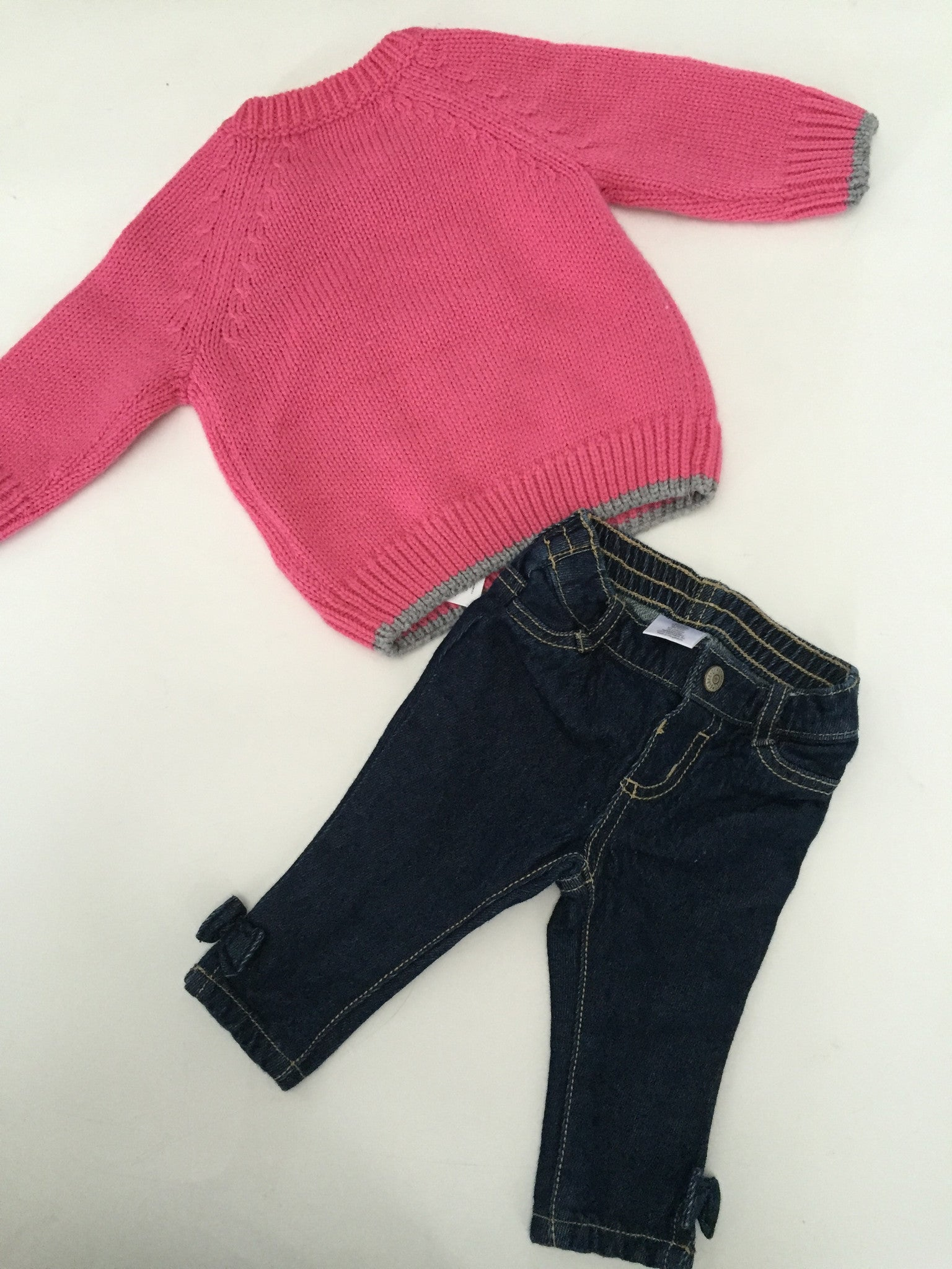 Joe Fresh Bear Sweater + Gymboree Jeans | 3-6M