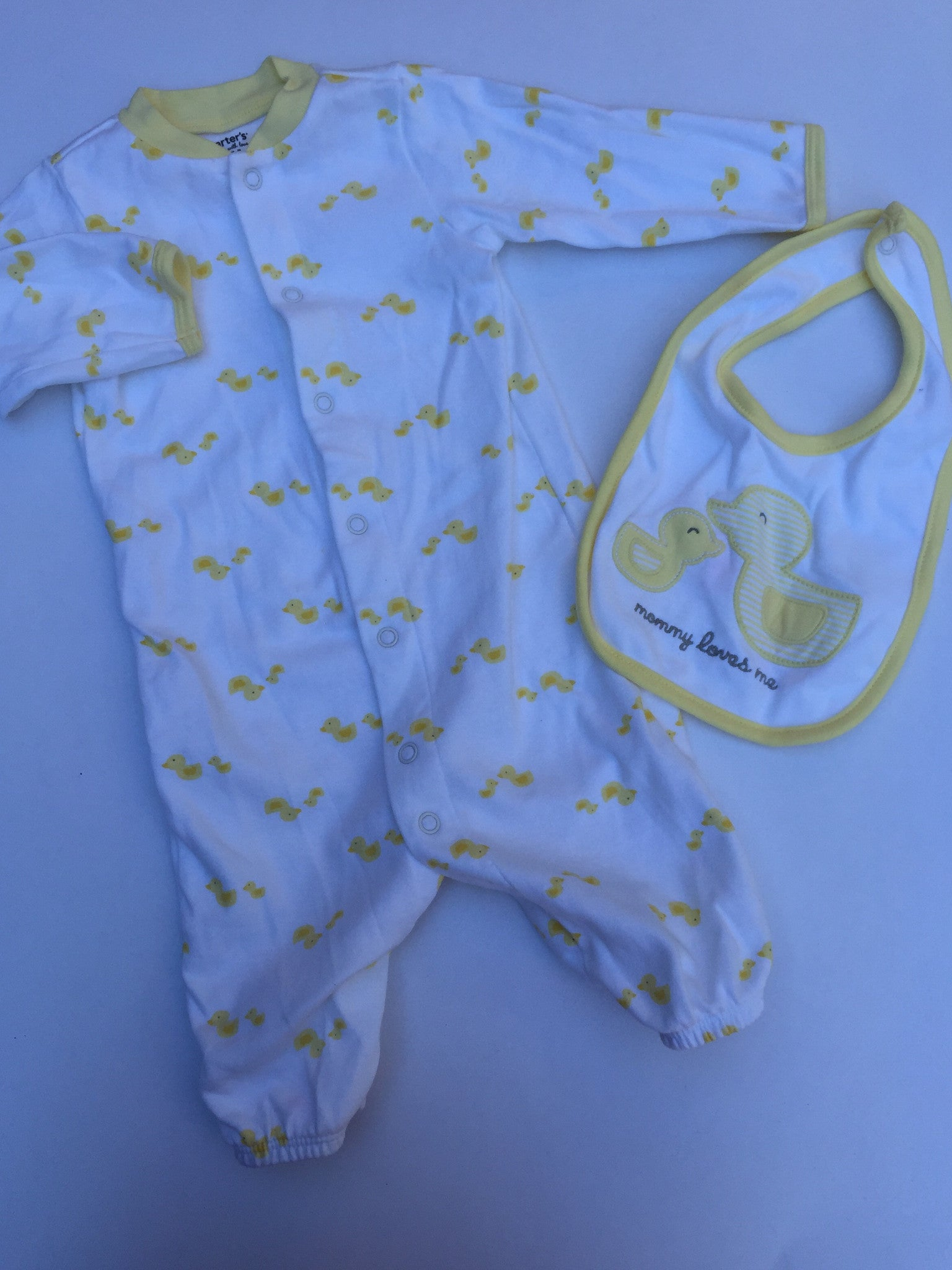 Carter's Duckie Sleeper & Bib | 6M
