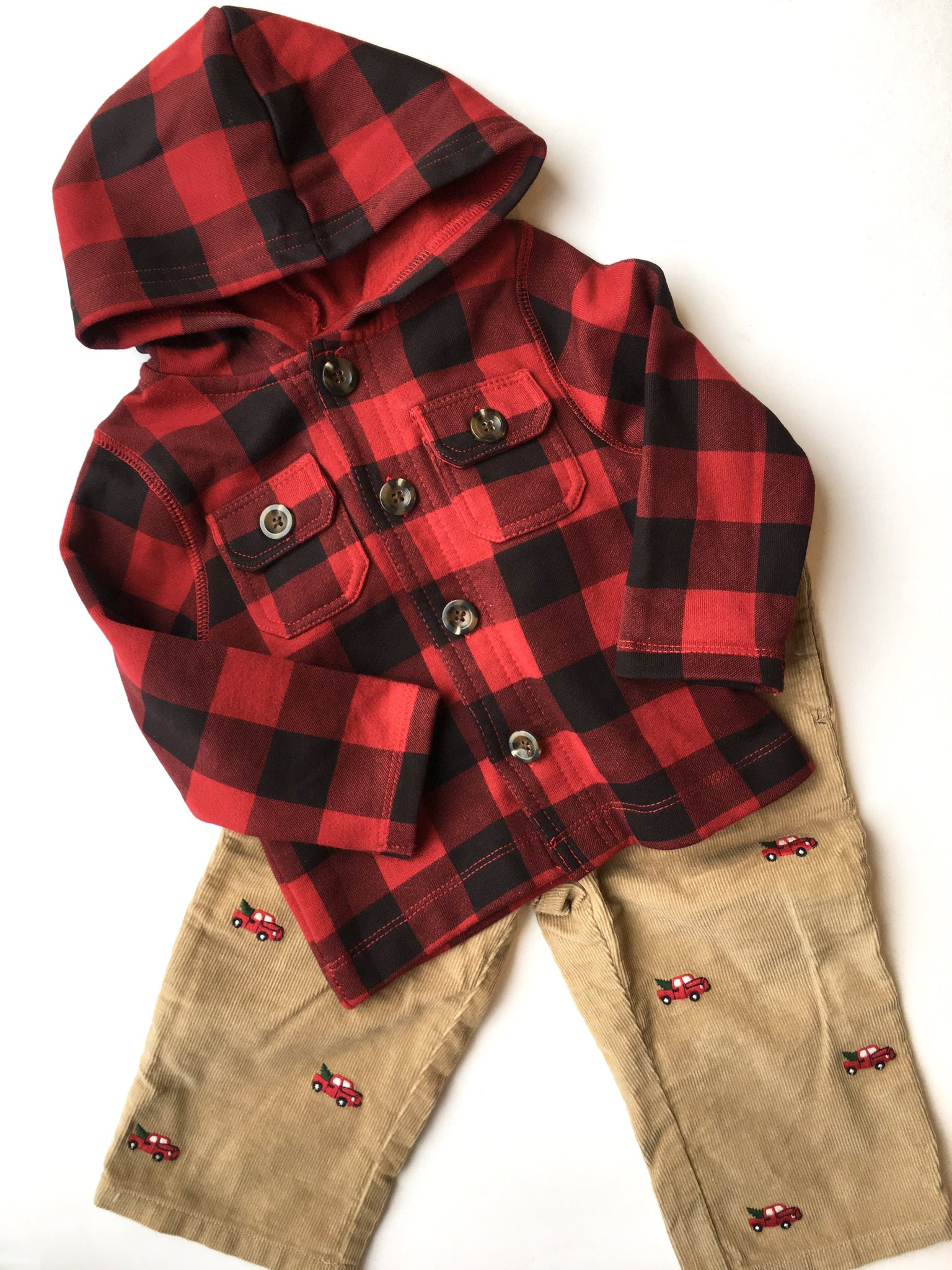 Joe Fresh Shirt + Gymboree Cords  | 12-18M